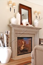 Simple Limestone Mantel