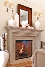 Arthur Simple Limestone Mantel