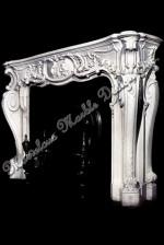 French Style Marble Mantel in carrara marble