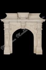 italian Limestone mantel