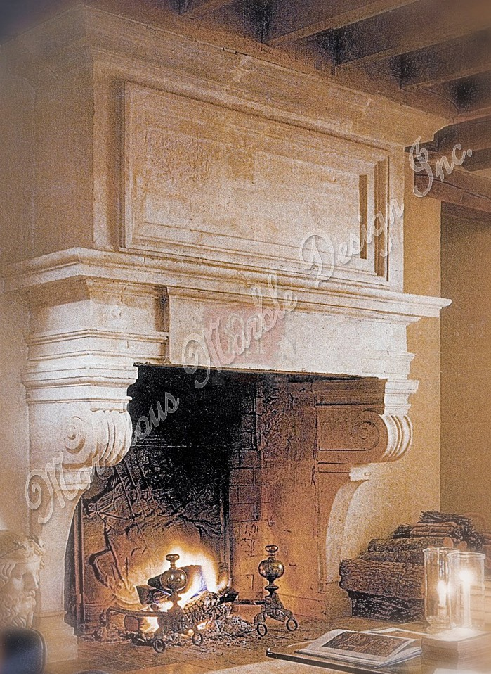 French Limestone Fireplace Mantle Marvelous Marble