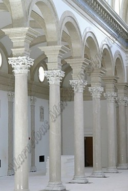 italian white marble columns in New York