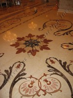Luxury Marble Floor Border Design