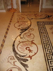 Marble Floor Border Design