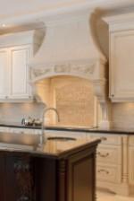 FLORENCE Stone Range Hood in Luxury Kitchen