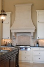 PARMA Cast Stone Range Hood in High Ceiling