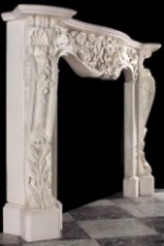 Antique 302 French Louis Marble Mantel