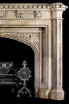 Antique 303 Gothic Limestone Mantels Design