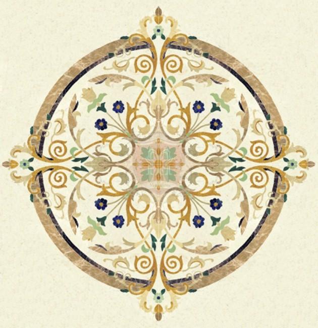 Foyer Medallion Designs : Marble medallions floor borders flooring