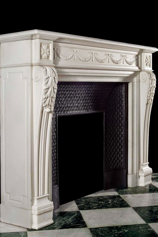 marble french fireplace mantel