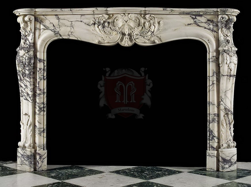 G12345 French style Mantels - Fireplace Mantels Design In Limestone Or Marble By Marvelous Marble