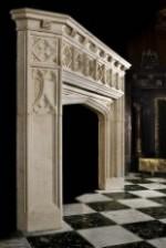 Antique 307 Gothic limestone Fireplace Mantels