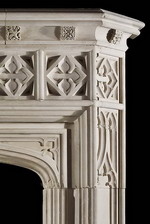 Antique 307 Gothic limestone Fireplace Mantels