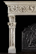 Antique 308 Custom Marble Mantel design