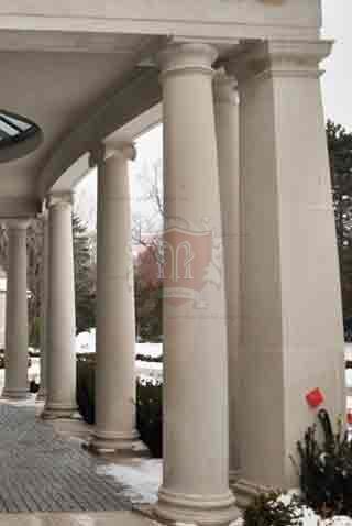 Entrance Limestone Columns