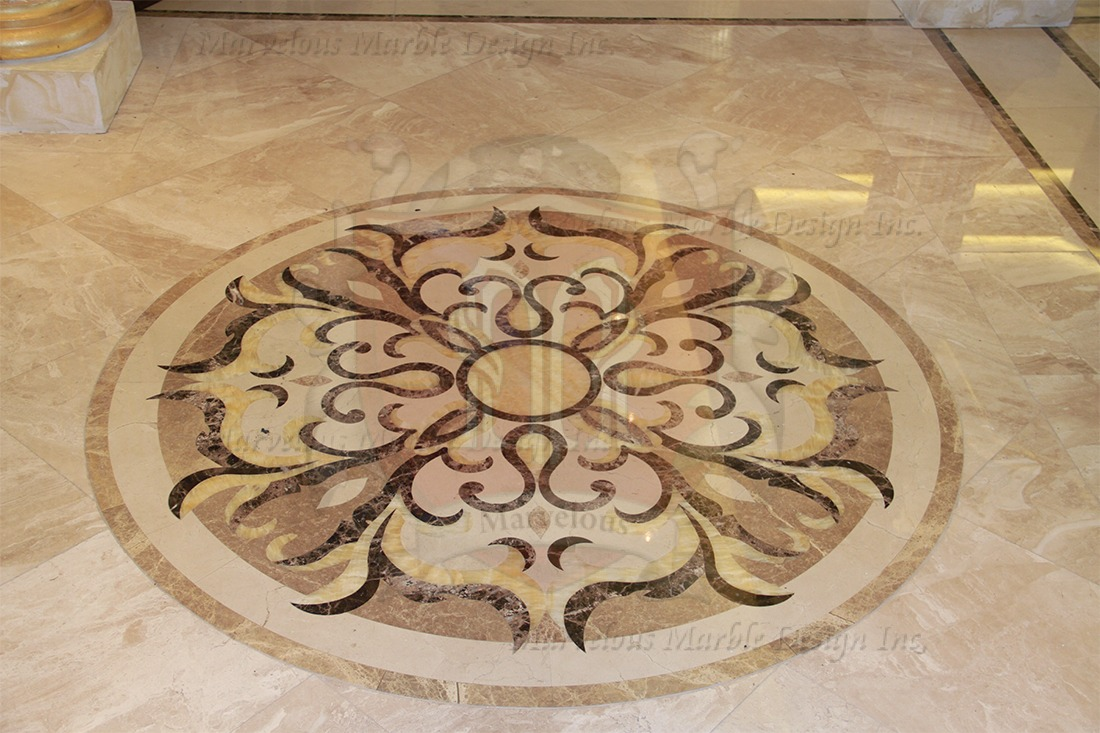 5ft Round Marble Floor Medallion Marvelous Marble