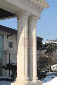 Fluted Limestone Columns