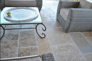 French Limestone Flooring and Stairs