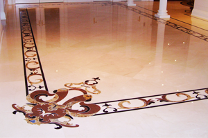 MADISON Custom 3D Water jet Marble flooring designs