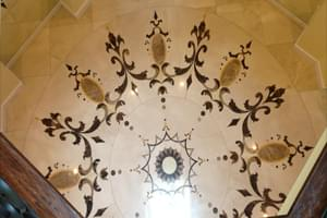 Two Oval Marble Mosaic on Luxury Mansion
