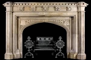 Antique 327 Custom Made Marble Mantel