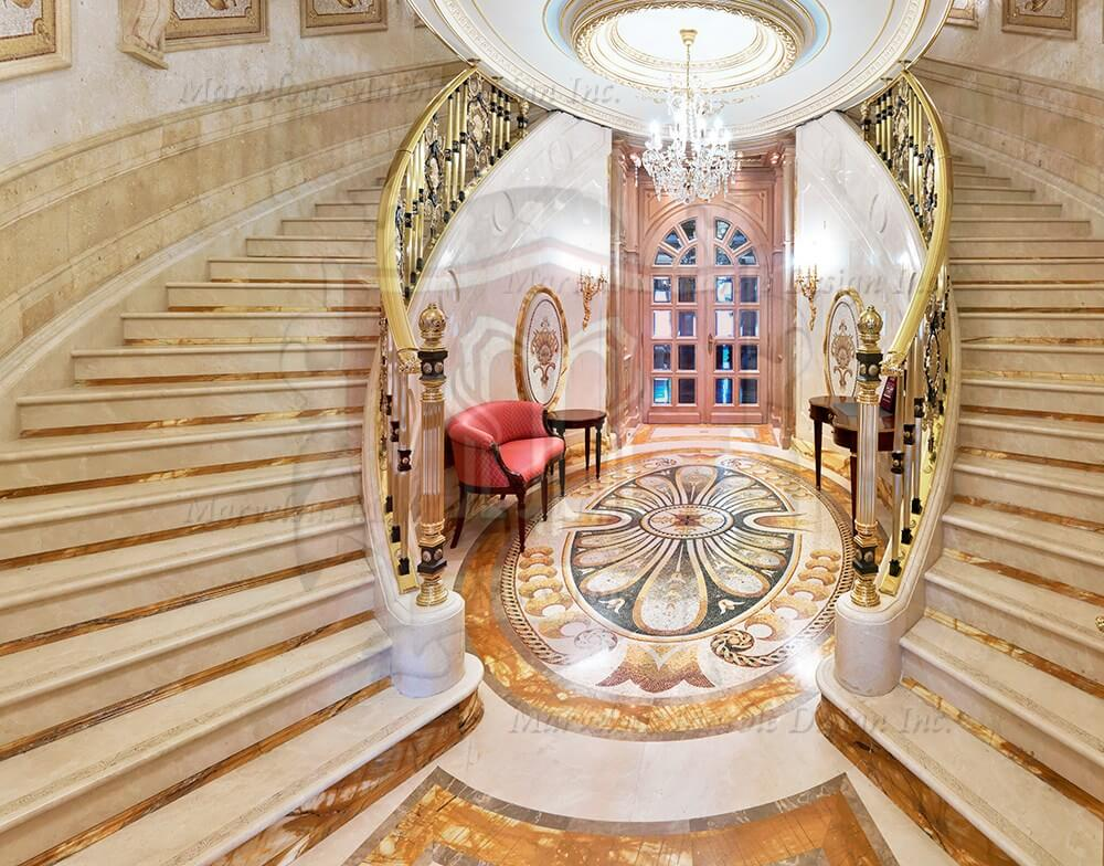 Marble Stairs Limestone Stairs Marble Staircase Marvelous Marble Design Inc