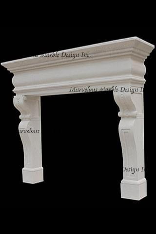 Italian design limestone mantel