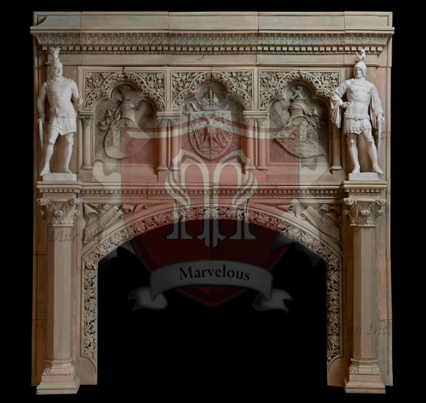 European Fireplace Mantel In New York Marvelous Marble