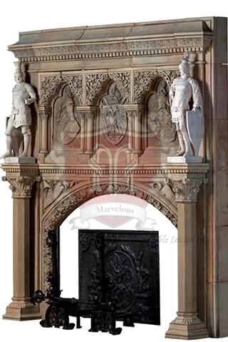 European Fireplace Mantel