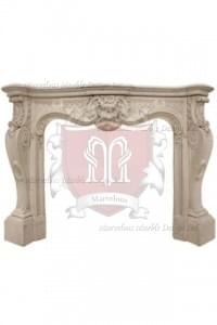 Custom Made Marble Mantel