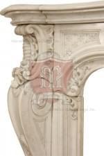 Antique 327 Custom Made Marble Mantel