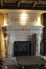 Custom Villeneuve in French Limestone Mantel With Patina