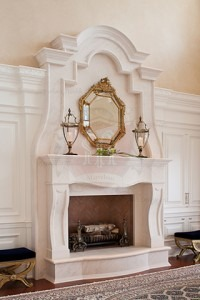 Custom made Limestone mantel