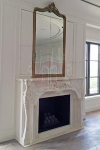 Custom marble french mantel