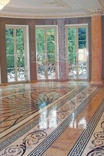 Luxury Water Jet Marble Flooring Design
