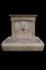 Custom Design Limestone Travertine Wall Fountain