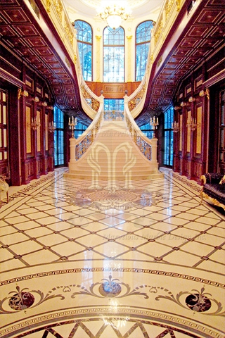 Marble Floor Design for Luxury Mansion