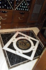 Custom Marble Floor Design In Wine cellar