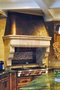 Stone Hood with Copper Canopy