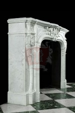 Antique 323 Bianco Carrara French Mantel