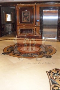 Round Marble Floor Medallion