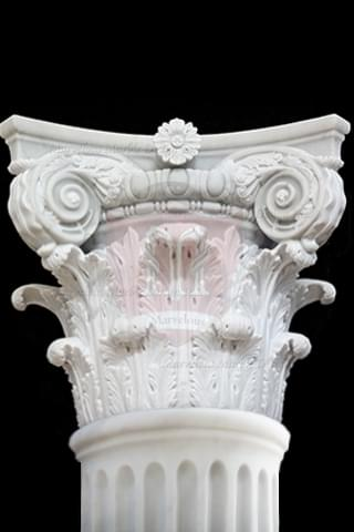 Marble Columns Corinthian Capital