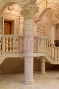 Italian Marble Columns with Corinthian Capital
