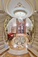 Oval Marble Mosaic on Foyer