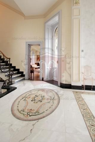 oval marble mosaic